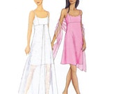 Dress with Overskirt Sewing Pattern/Out of Print UNCUT Butterick Arianna Petite Dress Sewing Pattern 6860