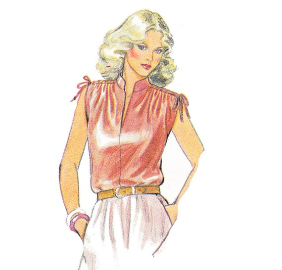 Vintage 1981Style Patterns Ltd. Blouse Sewing Pattern 3296