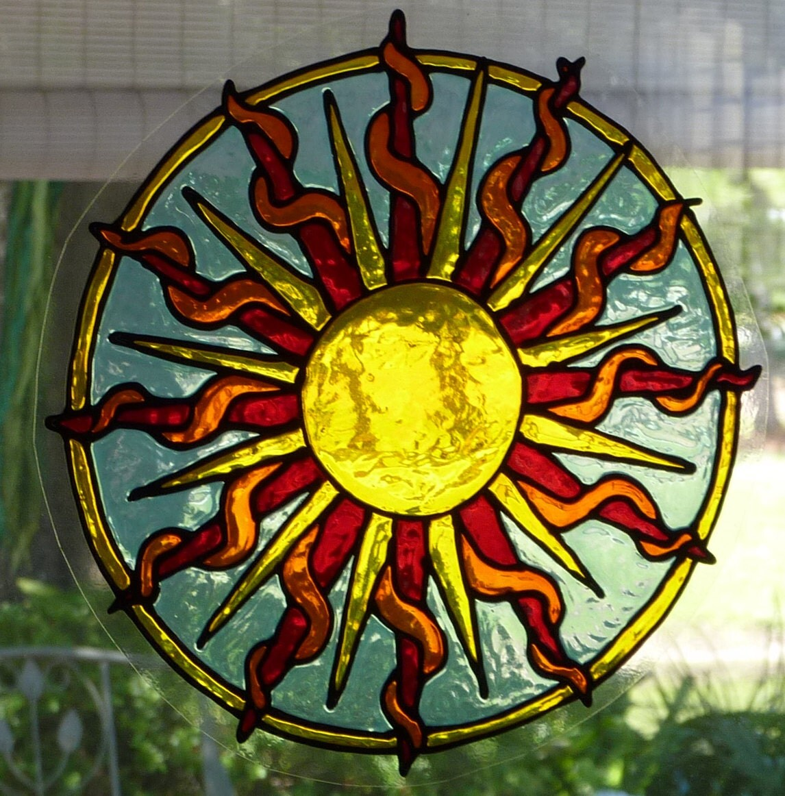 Yellow Sun Mandala Window Cling