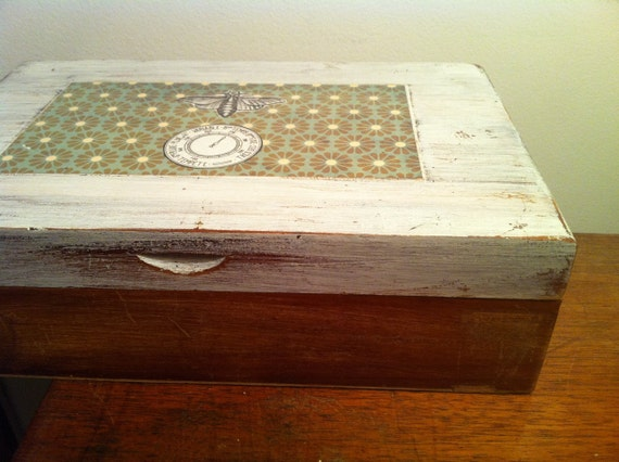 Vintage Re-finished Wood Box