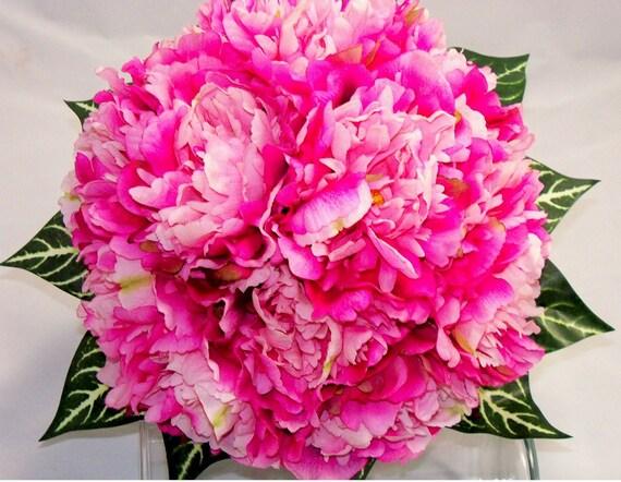 Bridal Raspberry Sherbert Peony Bouquet
