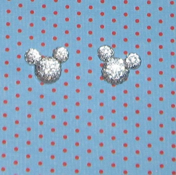 Mickey Mouse Crystal Stud Earrings