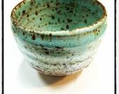 Handmade Little Green Japanese Tea Cup - last piece