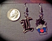 Death Note L Charm-style Earrings