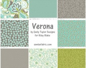 On Sale - Verona by Emily Taylor Design for Riley Blake - Fat Quarter Bundle - Set of 8 - 2 yards