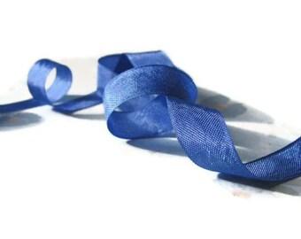 "Glory Blue Seam Binding Ribbon - Vintage Original Hug Snug - 3 / 6 / 12 Yards - Bright Blue - Packaging - 1/2"" Trim - Crafting DIY Supply"