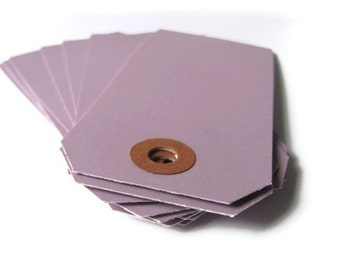 "50 Purple Shipping / Parcel Tags - Medium - 3 3/4"" x 1 7/8"" - Scrapbooking - Packaging - Crafting - 3.75"" Plain - Hang / Price / Gift Tags"