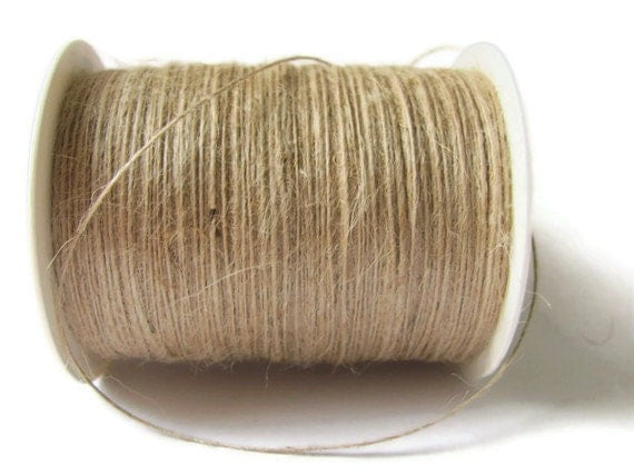 400 Yards Natural Color Burlap String 1-ply Jute by TheJoyfulCup