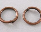 Jump Rings 8mm antique Copper Color, 0.8mm thick 100 pcs