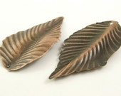 Vintage Style Antique Copper Metal Leaves 3 Styles 20 pcs assorted