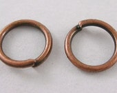 Jump Rings 10mm Antique copper plated 1mm thick 100pcs.