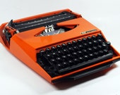 "Orange Smith Corona Karmann Ghia ""Super G""  Manual Typewriter"