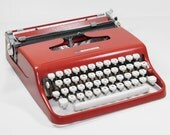 Vintage Red Sears Courier Typewriter