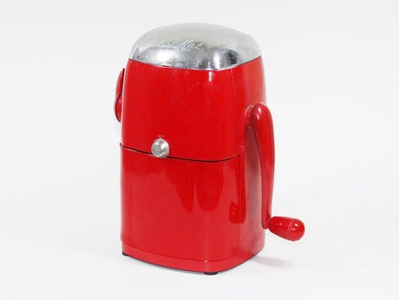 Vintage Ice-O-Matic Ice Crusher by Rival: Vogue Model Bright Red