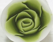Polymer clay millefiori Olive green Rose Cane