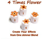 Polymer Clay PDF tutorial - One Skinner Blend Four Flower canes