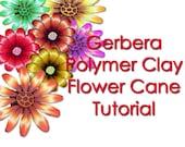 Polymer Clay Tutorial Gerbera Flower cane