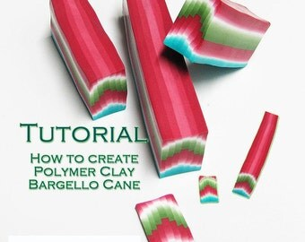 Polymer Clay PDF tutorial - The Bargello Cane technique