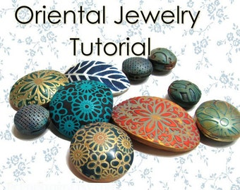 Polymer Clay PDF tutorial - Oriental Textures