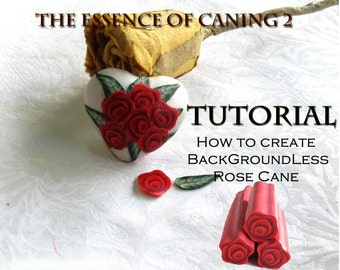 Polymer Clay Tutorial - The Backgroundless Millefiori Rose Cane