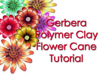 Polymer Clay Tutorial Gerbera Flower cane