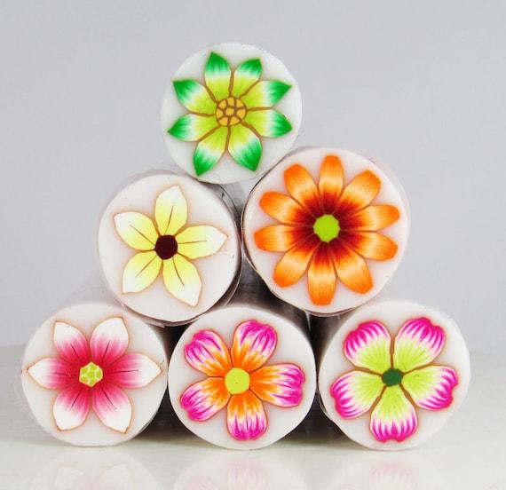 Polymer Clay Flower canes - Millefiori Flower canes Spring Set