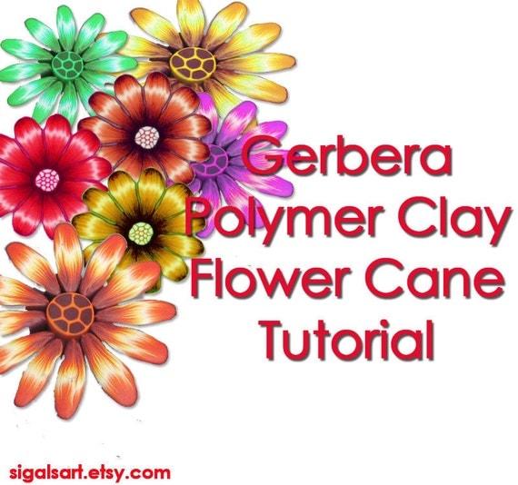 Clay Flowers Tutorials: Polymer Clay Tutorial Gerbera Flower Cane
