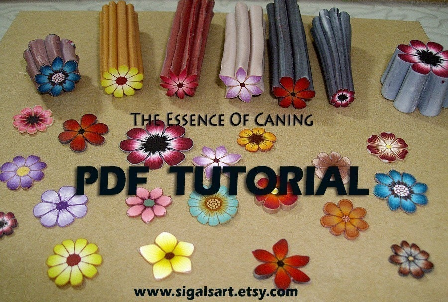 The Backgroundless flower cane tutorial