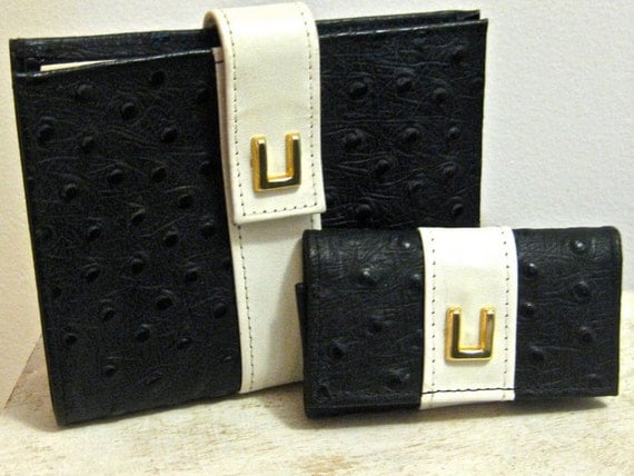Rolf's Leather Black and White Wallet Vintage 1970s