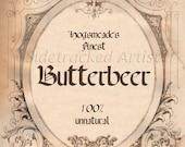 Butterbeer Label DIGITAL IMAGE / Sidetracked Artist No. 170