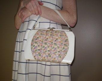 Clearance! Flowers and Cream Handbag