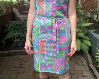 Psychedelic 60s Era Dress...Groovy.