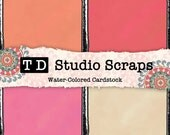 Persimmon Color Washed Textured Card Stock Digital Paper Backgrounds 12x12 JPEG 300dpi