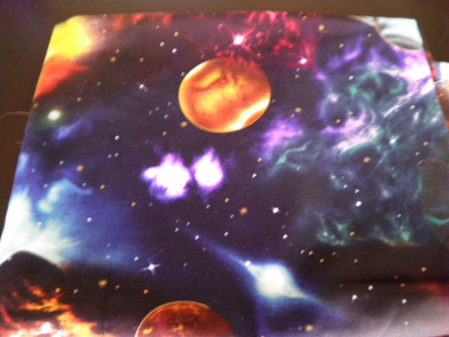 100 cotton galaxy print fabric 1 3 4 yards for Galaxy material fabric