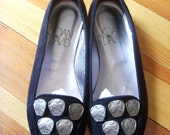 Vintage Never Worn Joan and David Suede Ballet Flats Size 8 Made in Italy Ladies