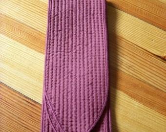 LAST ONE Vintage Cloth Belt or Sash Wine 1970s Accessory Costume