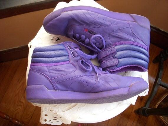 Vintage Reebok Purple Hi Top Freestyle Aerobics High Tops