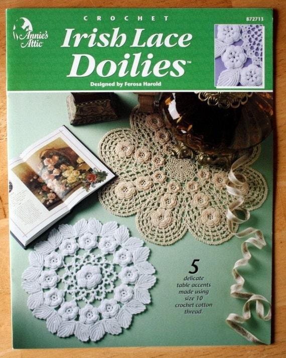 Annies Attic Irish Lace Doilies Crochet Pattern Booklet