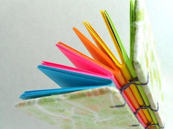 Rainbow mini journal. OOAK. 100 pages.