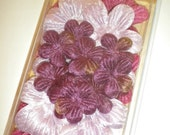 Velvet Flowers by 7 Gypsies Purple Eggplant