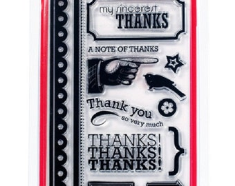 Thanks Clear Stamp Set by American Crafts