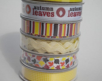 Autumn Ribbon Set 4 by American Crafts
