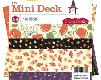 Matilda 6x6 Halloween Paper Pad by Cosmo Cricket 36 sheets