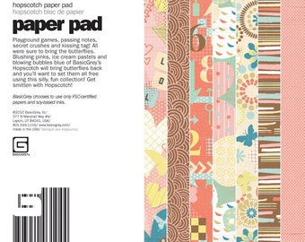 Basic Grey Paper Pad 6x6 Hopscotch 36 sheets
