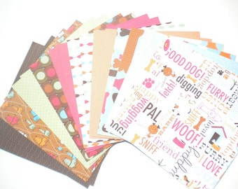Dog Paper Pack  6x6 by American Crafts 20 Sheets