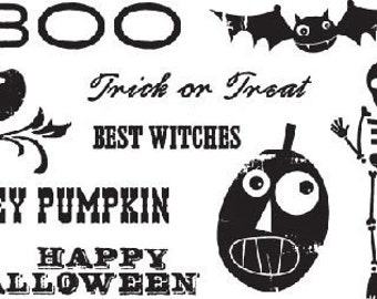 Stamp Set Haunted Halloween by Cosmo Cricket (KILLER DEAL)