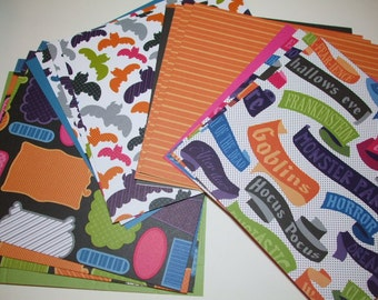 6x6 paper pack BOO Set B by American Crafts 16 Sheets