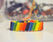 rainbow friendship bracelet - made to order