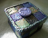Polymer Clay Mosaic Tiled Trinket Box - trinasclaycreations