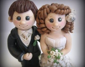 Wedding Cake Topper, Custom, Personalized Polymer Clay Bride and Groom with Cat and Dog Wedding/Anniversary Keepsake